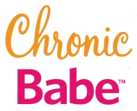 "ChronicBabe logo with ""Chronic"" in orange cursive and ""Babe"" in bold, hot pink sans serif"